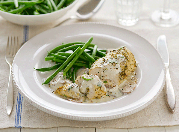 chicken-with-creamy-garlic-sauce