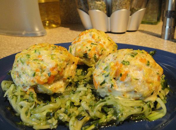 pesto-chicken-veggie-meatballs